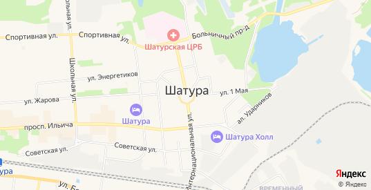СТ Энергетик на карте Шатуры с номерами домов