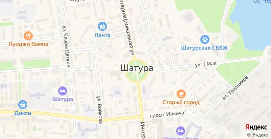 Территория гк Мотор в Шатуре с номерами домов на карте. Спутник и схема онлайн