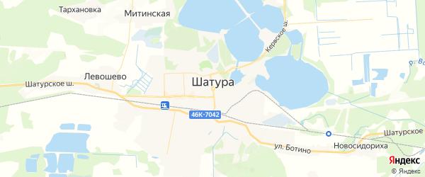 Карта Шатуры с районами, улицами и номерами домов