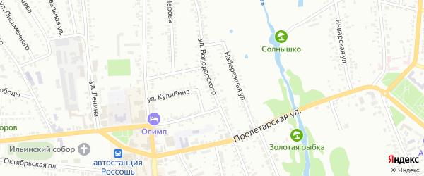 Улица Володарского на карте Россоши с номерами домов