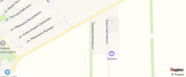 Промышленная улица на карте села Крыма Ростовской области с номерами домов