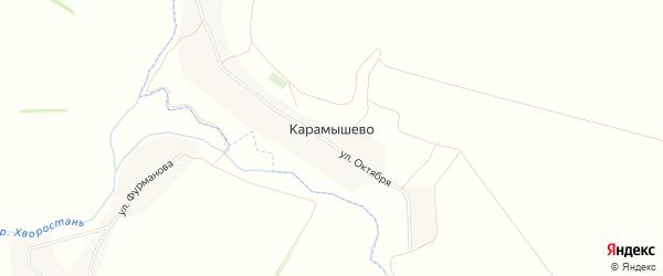 Карта поселка Карамышево в Воронежской области с улицами и номерами домов