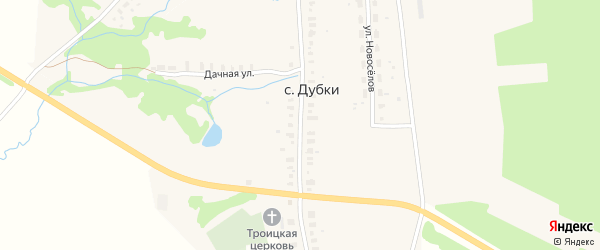 Улица Красных Путиловцев на карте села Дубки Владимирской области с номерами домов