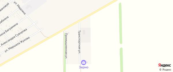 Транспортная улица на карте села Крыма Ростовской области с номерами домов
