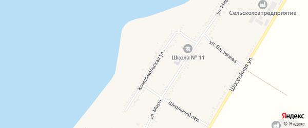 Комсомольская улица на карте Красногвардейского села Адыгеи с номерами домов