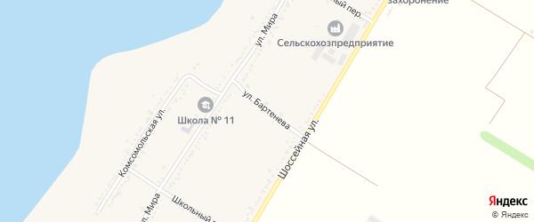 Улица Бартенева на карте Красногвардейского села Адыгеи с номерами домов