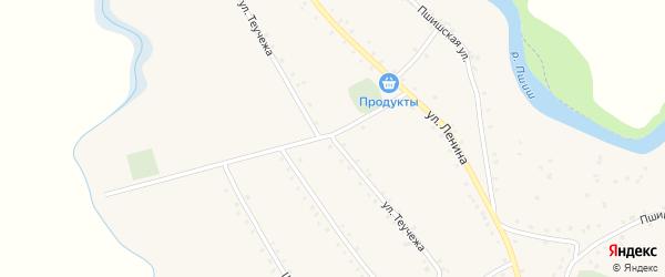 Улица Ц.Теучежа на карте аула Габукая Адыгеи с номерами домов