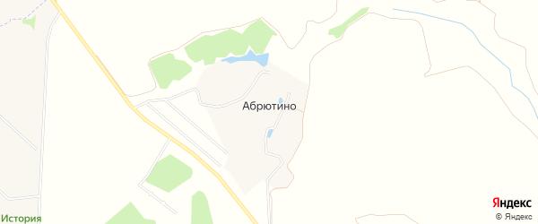 Карта села Абрютино в Рязанской области с улицами и номерами домов