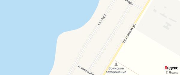 Улица Мира на карте Красногвардейского села Адыгеи с номерами домов