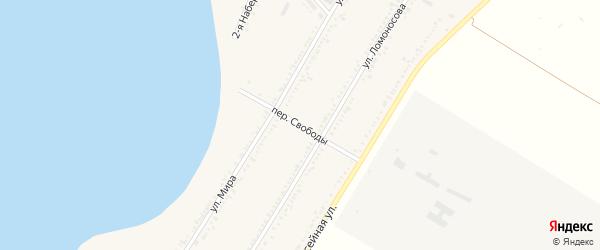 Переулок Свободы на карте Красногвардейского села Адыгеи с номерами домов