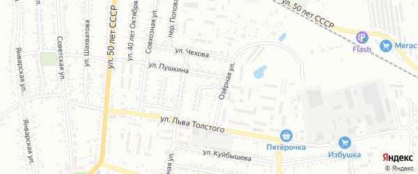 Переулок Домнича на карте Россоши с номерами домов