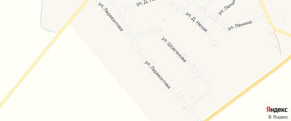 Улица Лермонтова на карте аула Габукая Адыгеи с номерами домов