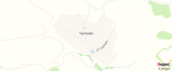 Карта села Чулково в Рязанской области с улицами и номерами домов