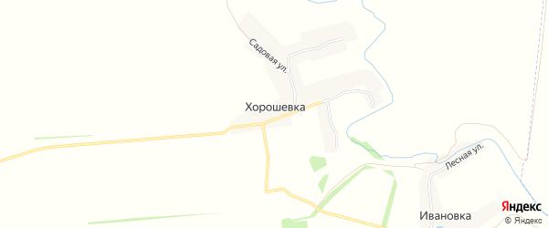 Карта деревни Хорошевки в Липецкой области с улицами и номерами домов