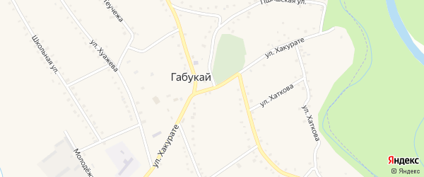Улица Хакурате на карте аула Габукая Адыгеи с номерами домов