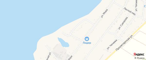 Набережная 1-я улица на карте Красногвардейского села Адыгеи с номерами домов