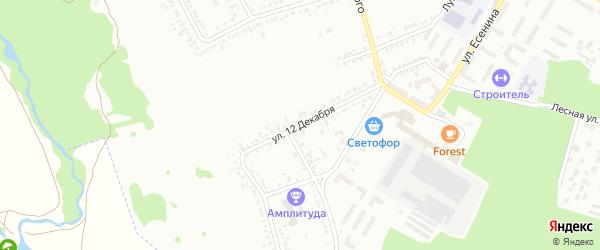 Улица 12 Декабря на карте Россоши с номерами домов