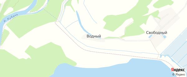 Карта Водного поселка в Адыгее с улицами и номерами домов