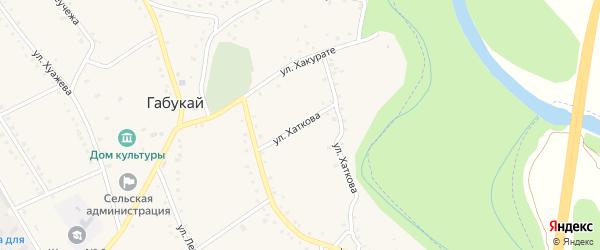 Улица Хаткова на карте аула Габукая Адыгеи с номерами домов