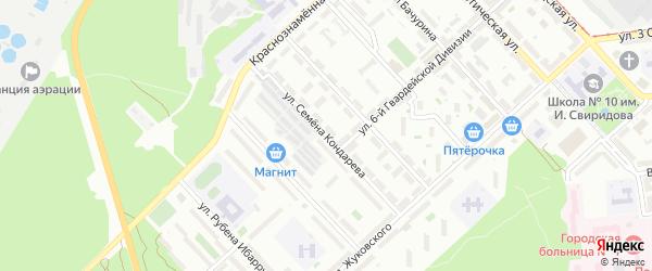 Улица Семена Кондарева на карте Липецка с номерами домов