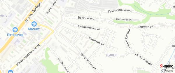 Киевская улица на карте Липецка с номерами домов