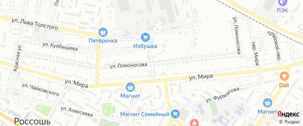 Маслозаводской переулок на карте Россоши с номерами домов