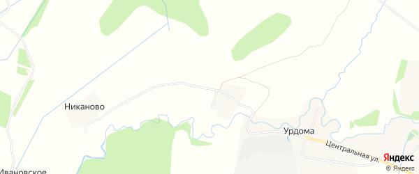 Карта деревни Илькино в Ярославская области с улицами и номерами домов