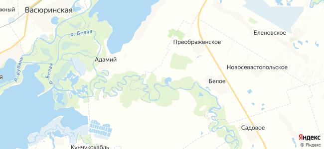 Мирный на карте