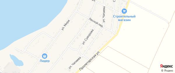Улица Суворова на карте Красногвардейского села Адыгеи с номерами домов