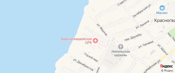 Улица Погибельного на карте Красногвардейского села Адыгеи с номерами домов