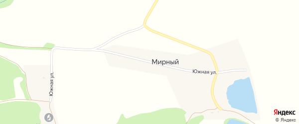 Южная улица на карте Мирного поселка Адыгеи с номерами домов