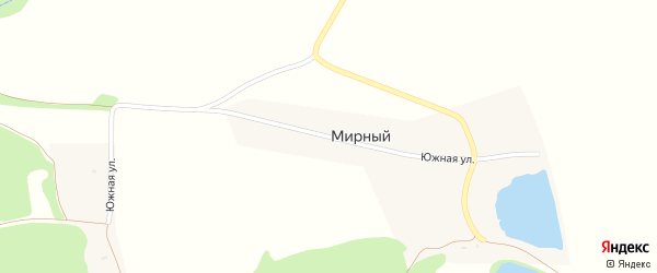 Южная улица на карте Мирного поселка с номерами домов