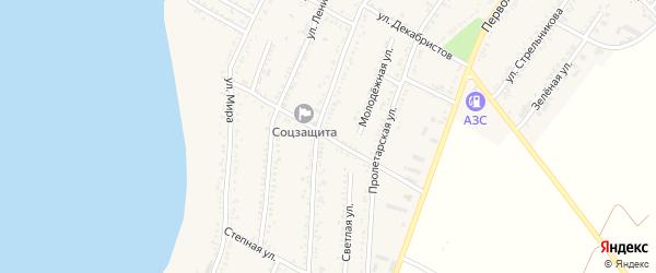 Улица Заринского на карте Красногвардейского села Адыгеи с номерами домов