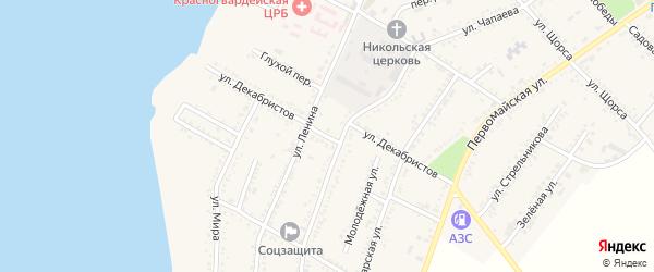 Улица Декабристов на карте Красногвардейского села Адыгеи с номерами домов