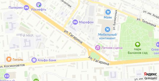 Улица Гагарина в Липецке с номерами домов на карте. Спутник и схема онлайн