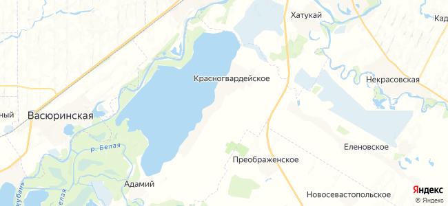 Красногвардейское на карте