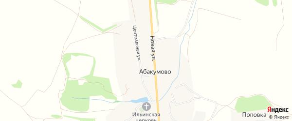 Карта села Абакумово в Рязанской области с улицами и номерами домов