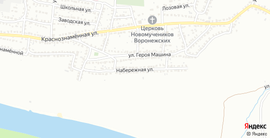 Набережная улица в Лисках с номерами домов на карте. Спутник и схема онлайн