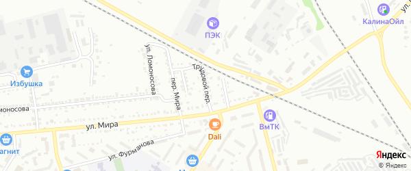 Трудовой переулок на карте Россоши с номерами домов
