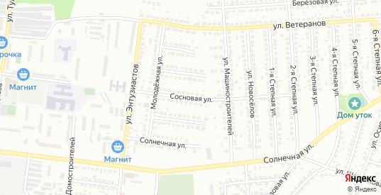 Сосновая улица в Лисках с номерами домов на карте. Спутник и схема онлайн