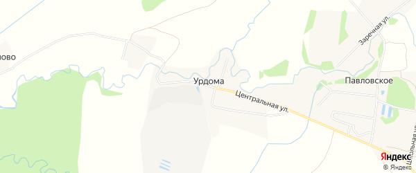 Карта поселка Урдомы в Ярославская области с улицами и номерами домов