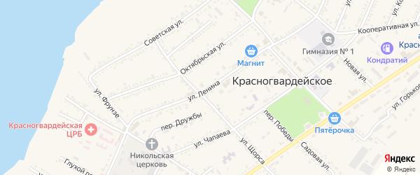 Улица Ленина на карте Красногвардейского села Адыгеи с номерами домов