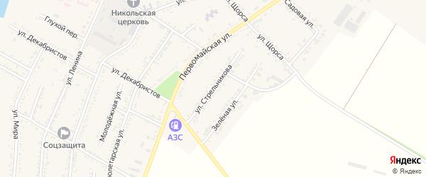 Улица Стрельникова на карте Красногвардейского села Адыгеи с номерами домов