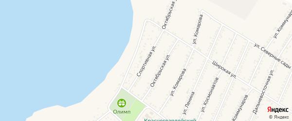 Спортивная улица на карте Красногвардейского села Адыгеи с номерами домов