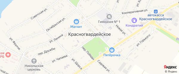 Луговой переулок на карте Красногвардейского села Адыгеи с номерами домов