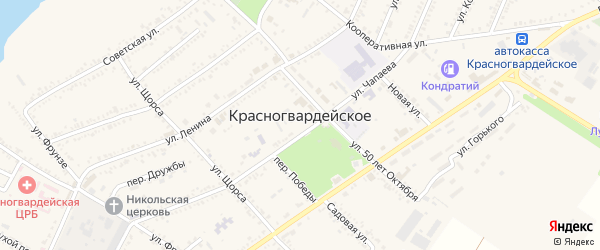 Короткая улица на карте Красногвардейского села Адыгеи с номерами домов