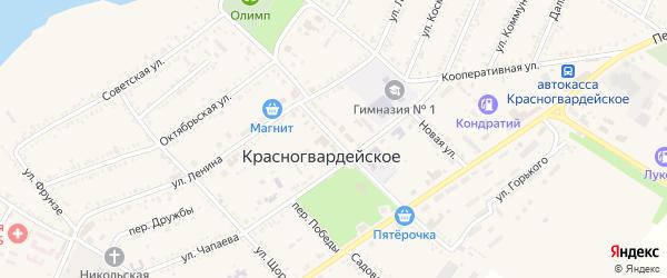 Улица 50 лет Октября на карте Красногвардейского села Адыгеи с номерами домов