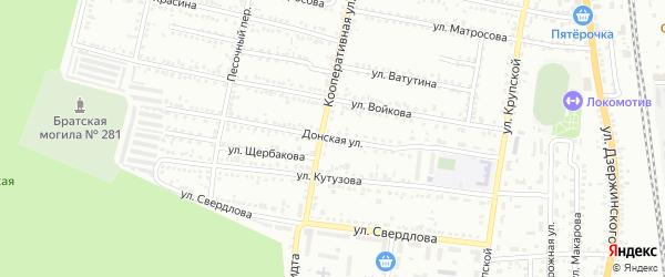 Донская улица на карте Россоши с номерами домов