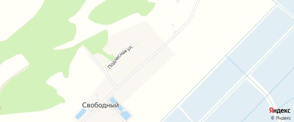 Школьная улица на карте Свободного поселка Адыгеи с номерами домов