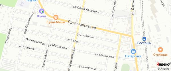 Улица Гагарина на карте Россоши с номерами домов